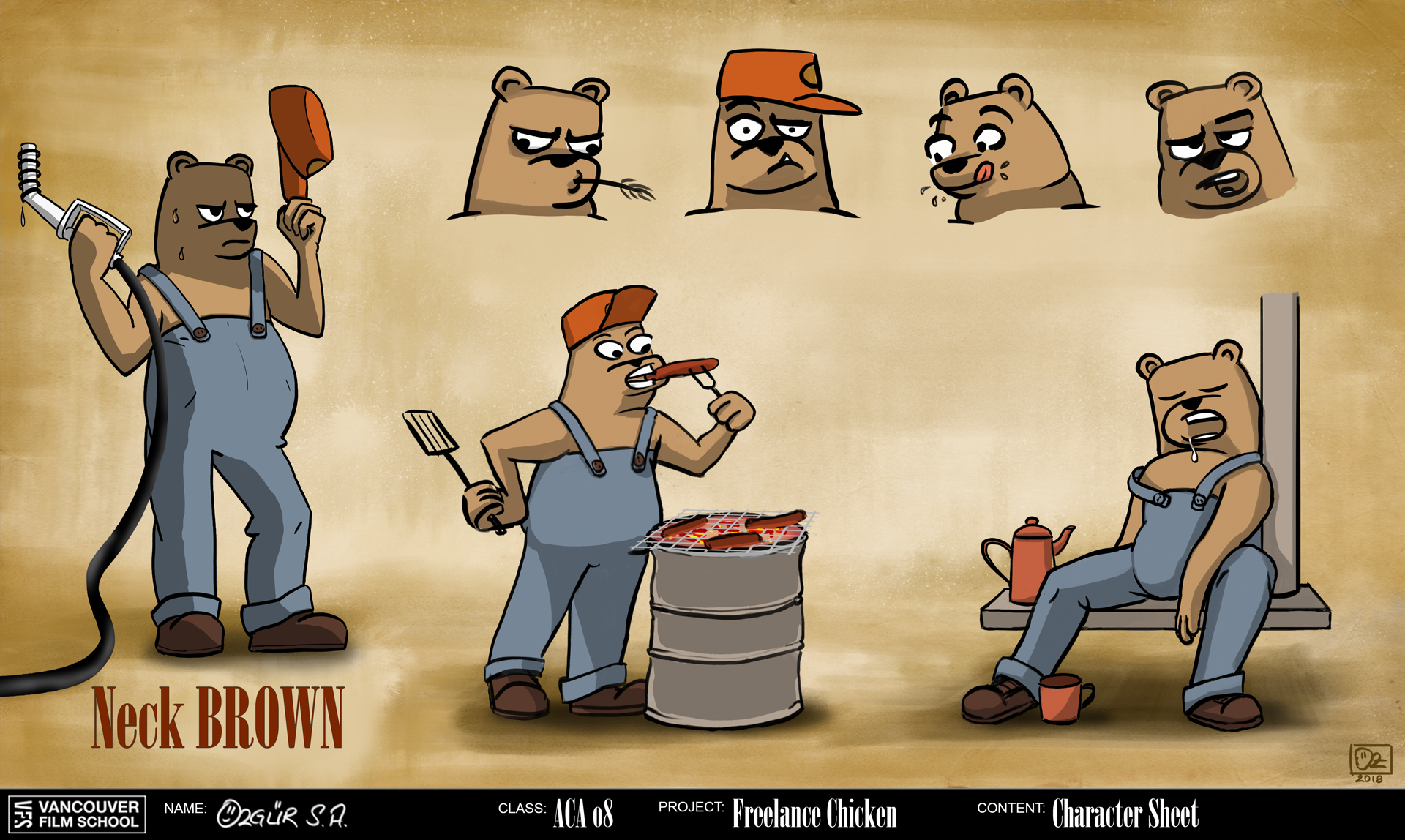 Character Concept Art: Neck Brown