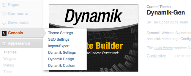 Dynamik Website Builder Theme