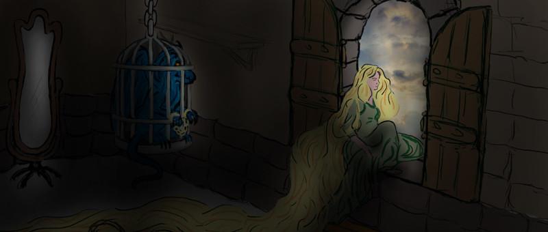 Rapunzel ve Ejderha