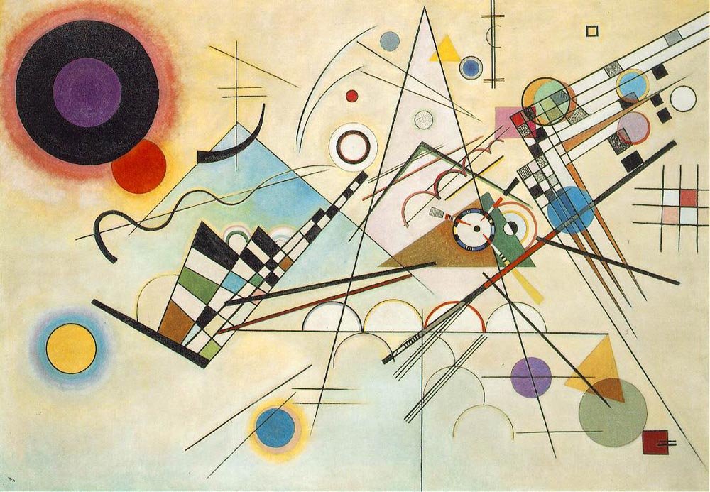 Kandinsky Compositions as an Abstract Animation