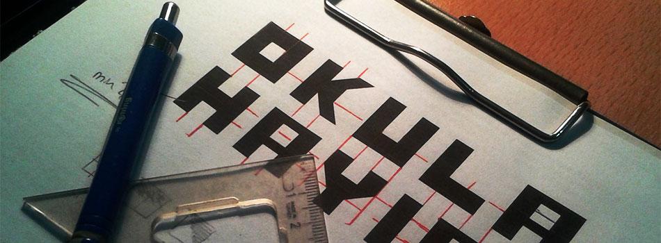 Tasarladığım Font Çeşitleri: Elif Sans, Okula Hayır…